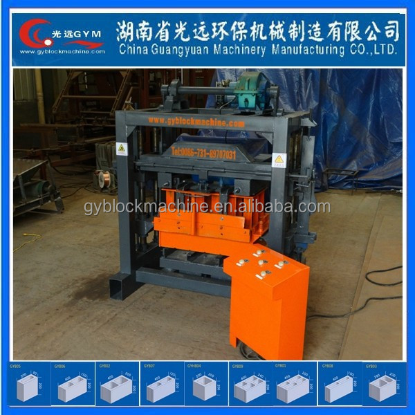 Mixture Brick Raw Material manual cement brick moulding machine