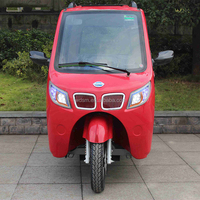 3 Seats Red Fully Closed 150CC 3 Wheel Motorcycle with Roof