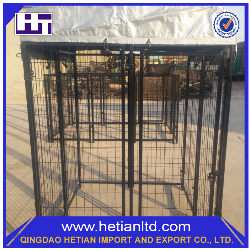 China Hot Dipped Modern Chain Link Fence Pet Cage PVC Dog Kennel