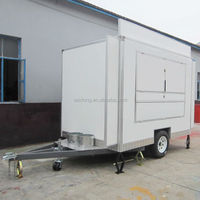 CE approval mobile food trailer- hamburger vending van design for hot sale