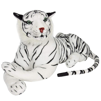 Giant White South China Tiger Stuffed Animal Plush Soft Toy Doll