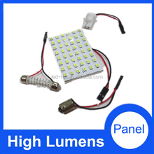 Super bright! Car Festoon Dome Light 3528 60SMD Auto Reading Light Panel T10 adapters+ Festoon Dome Adapters, car roof panel