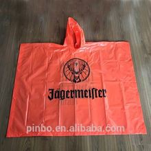 Custom Waterproof Blank PVC Plastic Rain Coat for Promotion Gift