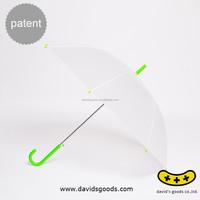 Semi Transparence Cover Umbrellas with Hang Non-slip Handle