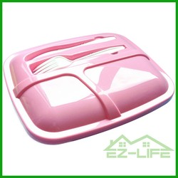 chinese factory eco friendly disposable plastic meal prep containers best selling 3 compartment bento box