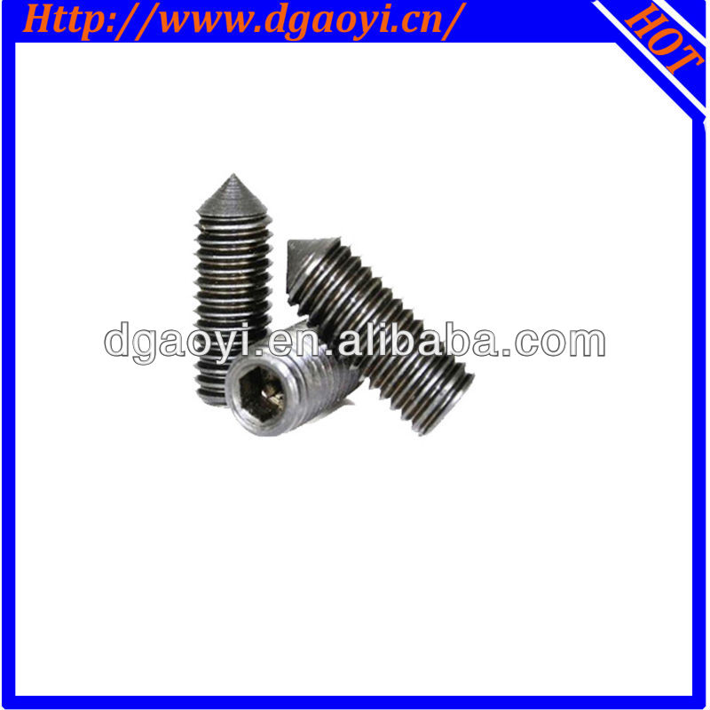 alloy steel hex socket set screws DIN 914