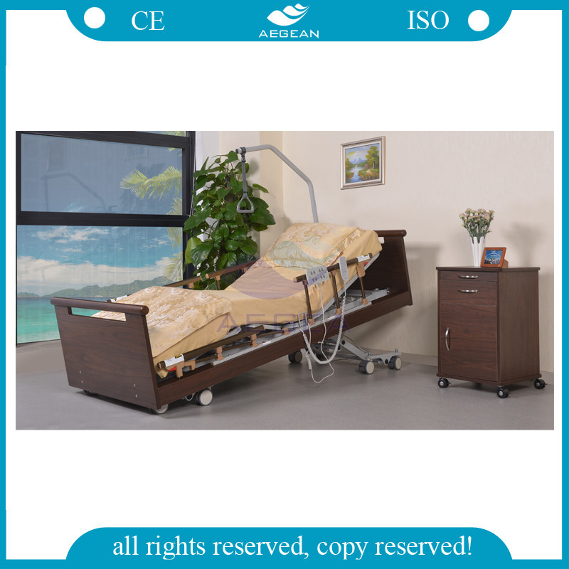 AG-W001 New Ultra-Low Position Wooden Home Elderly Care Bed
