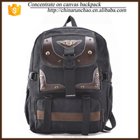 2015 best sell high quality canvas bag backpack wholesale for high school 5003#