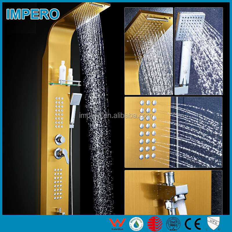 Wholesale Shower Panel Polished stainless steel 304 sanitary ware with 3 function