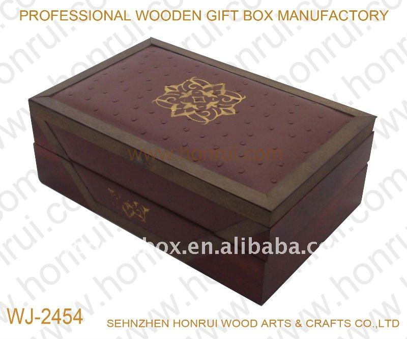 Antique Leather Wooden Jewellery box