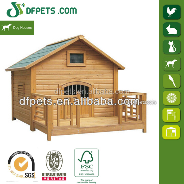 Pet House Dog Kennel With Veranda For Sale DFD004