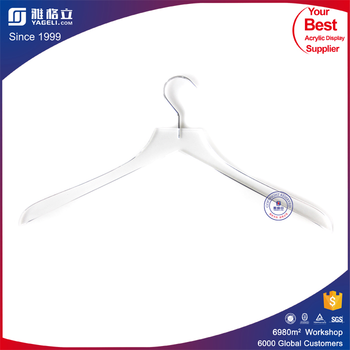 Various printing logo customized acrylic clothes hanger