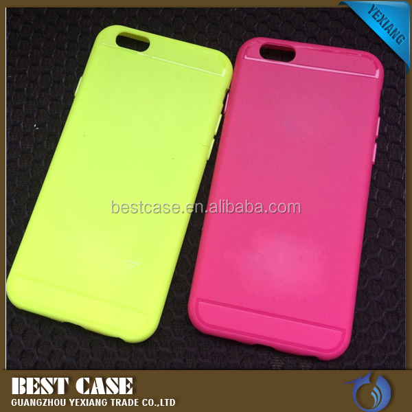 Factory Custom PU Leather Coating Touching Soft TPU Skin Cover Case For iphone 6