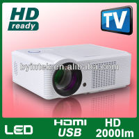 Watching 200inch Big Screen TV Program DVB-T LED LCD Video Multimedia Digital 3D Projector