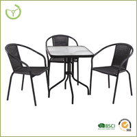 Rattan table and chair outdoor outdoor leisure folding chair/2015 new product