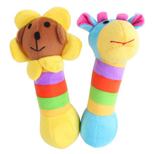 Popular new plush baby rattles soft animal plush toy