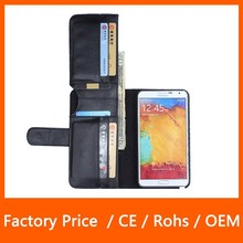 Multi Function Business Style with Card Slot PU Leather Mobile Phone Case for Samsung Galaxy Note 3 N9000