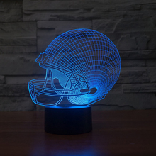 Hot sale Amazing Desk Gift Optical illusion 3D lamp glow kids Football Fans night light