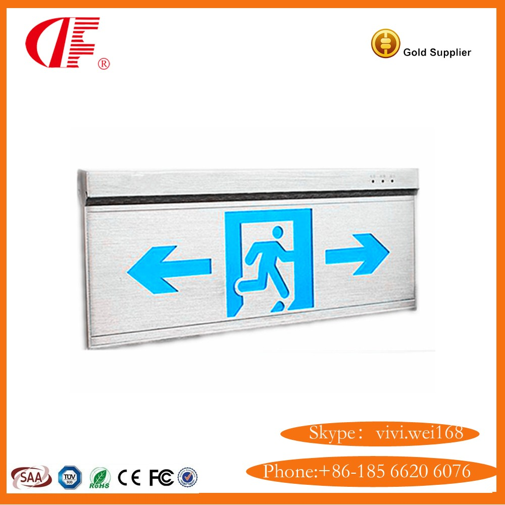 Pure Alumium Safety Exit Light, Alumium + LGP Safety Exit Sign with Hi-Q and reasonable price