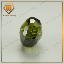 high temperature resistance turtle surface olive green synthetic CZ aaa grade gemstone beads