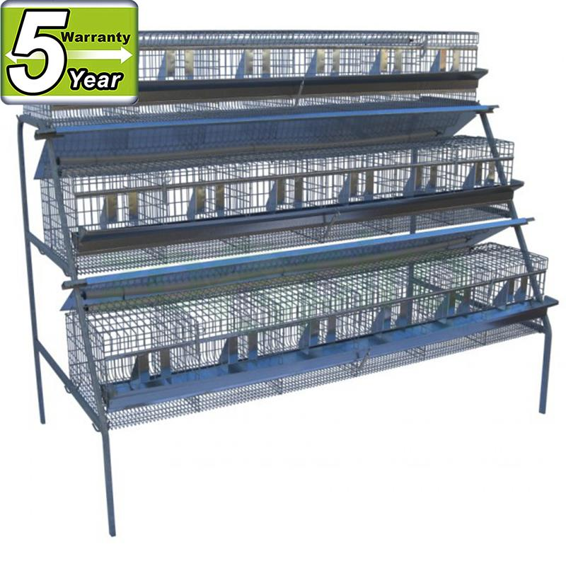 metal quail cage and water system