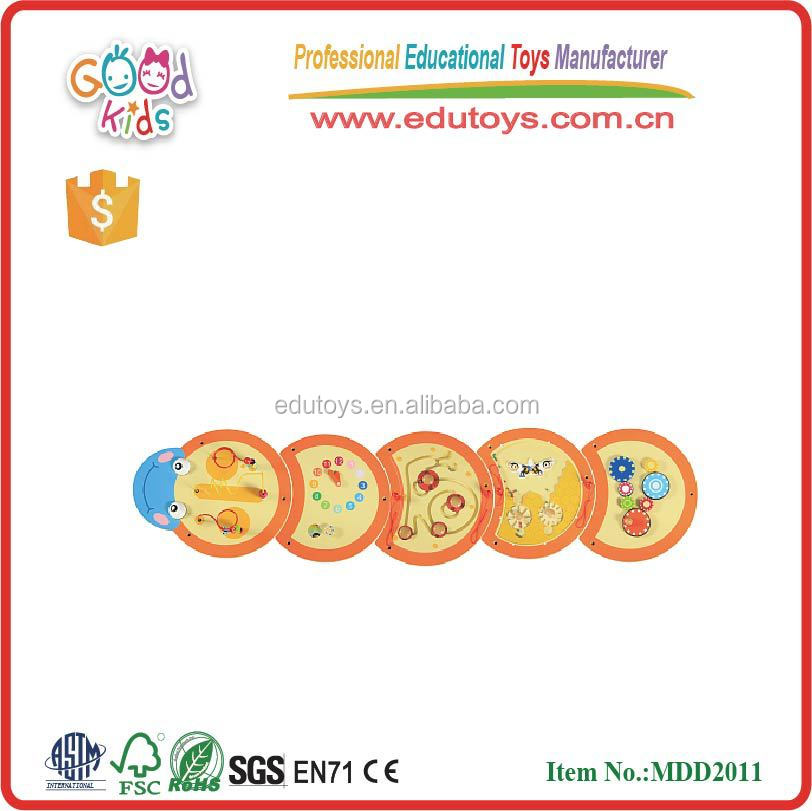 new item plywood material worm toys for child OEM educational wooden worm toys kindergarten MDD-2011