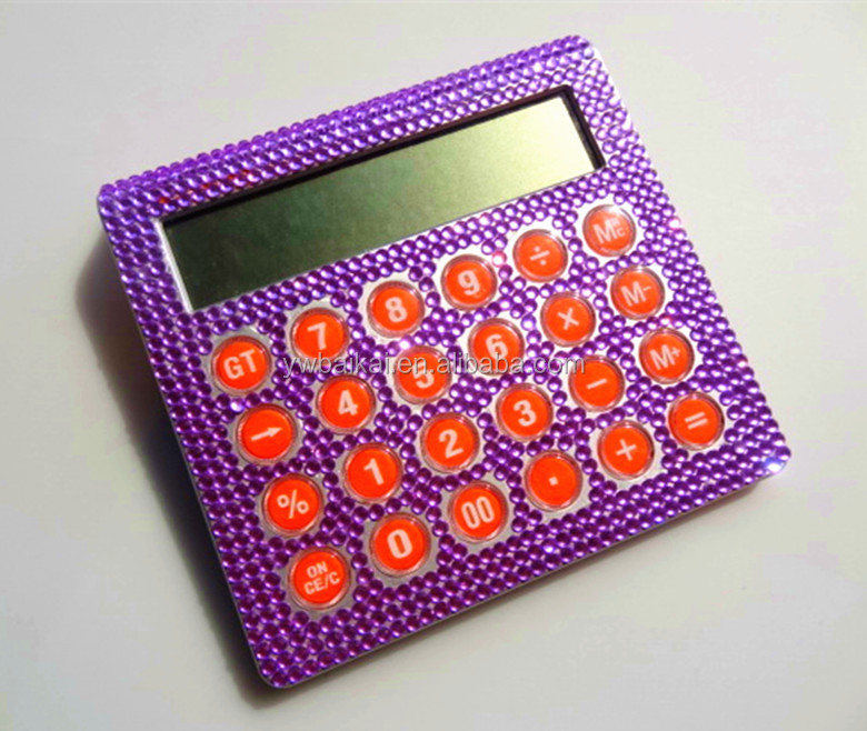Office calculator, gift calculator, rhinestone calculator