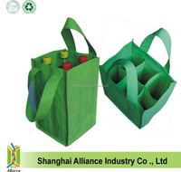PP Non woven 6 bottle wine bag / non woven reusable wine carry bag