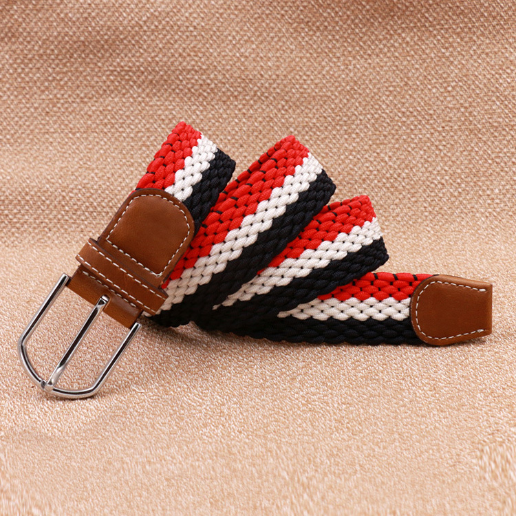 tp229 Red White Black Fashionable Fabric Elastic Belt for Men and Women