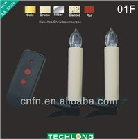 christmas tree ornaments,wireless christmas candle wholesale TKL-01F