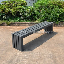 Outdoor furniture street metal bench seat