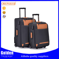 iron trolley three pieces purple ABS travel luggage eminent suitcase sets, chinese suitcase, luggage set