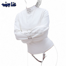 Womens Straitjacket Faux Leather Strict Bondage Kinky Fancy Straight Jacket Fetish Costumes