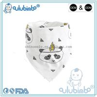 Factory price nice pattern double-sided 100% cotton baby bibs wholesale