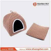 stripe mongolian yurt shaped pet bed pet house dog bed cat house