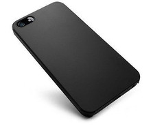 Black Ultra-Thin Matte Rubberized Slim Hard Back Shell Case for Apple iPhone 5S--Laudtec