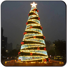 Decoration string christmas outdoor artificial trees with lights