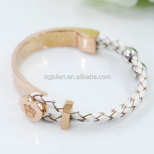 stainless steel jewelry, stainless steel leather bracelet