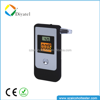 2014 Professional High Accurate Digital Breathalyzer Alcohol Breath Tester With Backlight And Mouthpieces AT2009