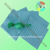 baby blue corrugated aluminum wrapping foil for chocolate