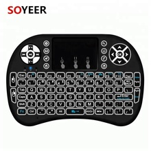 Soyeer i8 backlit keyboard 2.4g Remote Control Touchpad Wireless MIni Keyboard for Android Tv Box