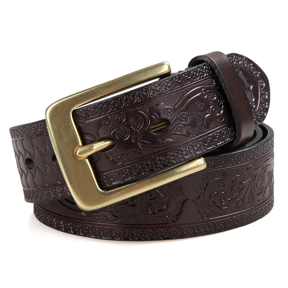 <strong>100</strong>% Genuine Leather Men's Belt Classic Man Waist Belt Online Wholesale B001Q-1