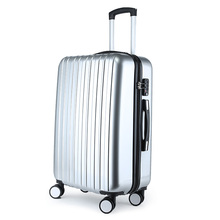 ABS+PC zipper travel trolley hard shell vip luggage