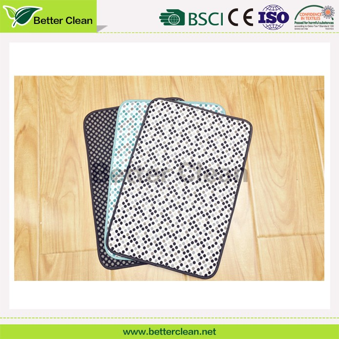 Anti fatigue door home textile square keep clean printed floor mat