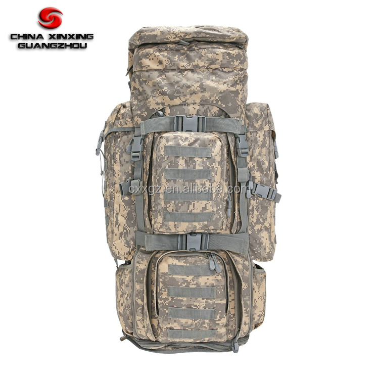 1000D Military Long term Camping Large Volume ACU combined backpack