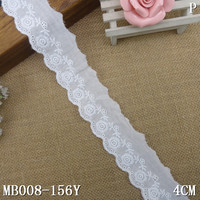 rose floral embroidery scalloped eyelet cotton lace fabric