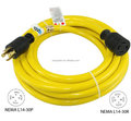 S10359 Generator Power Cord Sets, 10ft Length, 30A, 10/4C, L14-30