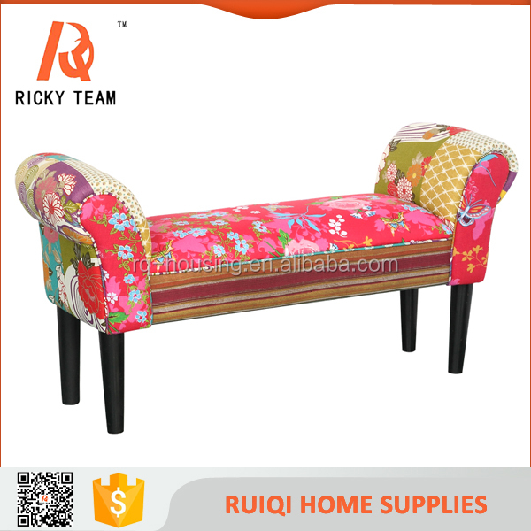 High quality new design low price patchwork stool living room furniture