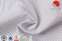 White/blue stripe TR woven fabric for shirts