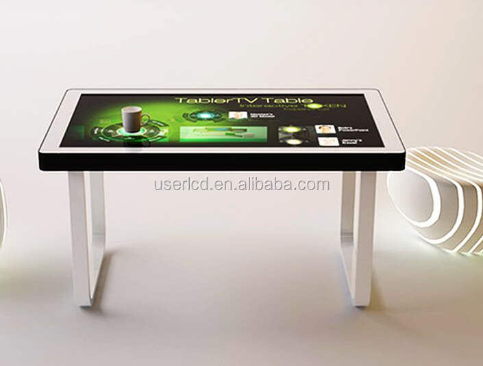 Newest info kiosk coffee touch table with windows OS 10 <strong>points</strong> touch